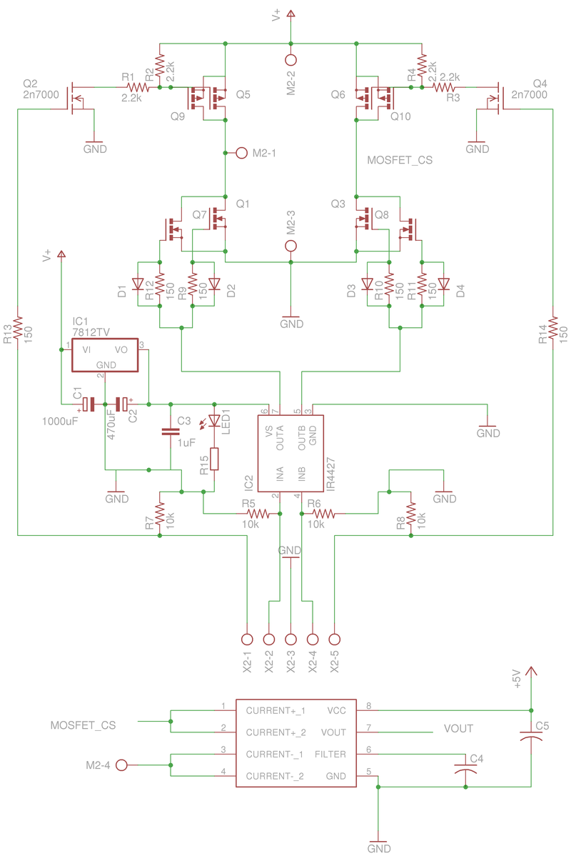 Prototype Robotics Bridge Pwm Motor Driver Amplifier It Is Such A Complete Hbridge And The Board File Eagle Cad For One H
