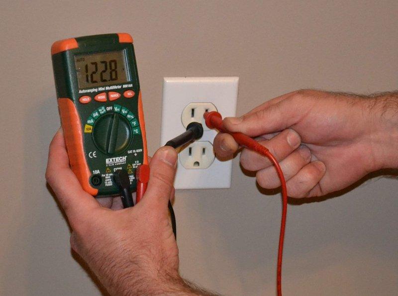 Testing Ground Wire 3 Red Test Probe to Ground